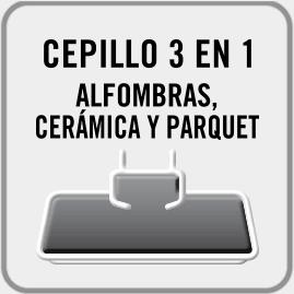 Cepillo MULTISUPERFICIE ideal para alfombras, cerámica y PARQUET