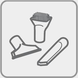 Porta accesorios incorporado