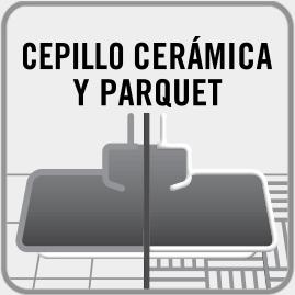 Cepillo ideal para cerámica y PARQUET