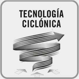 Tecnología ciclónica: mejor eficacia de aspiración y duración de los filtros