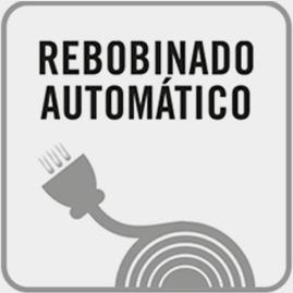 Rebobinado automático del cable: + rápido + fácil